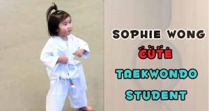 sophie wong cute taekwondo student