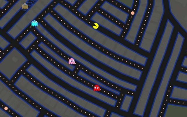 Pac Man on google maps