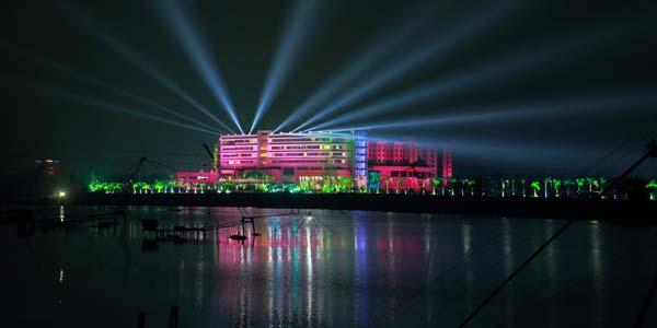 Aster Medicity hospital at Night