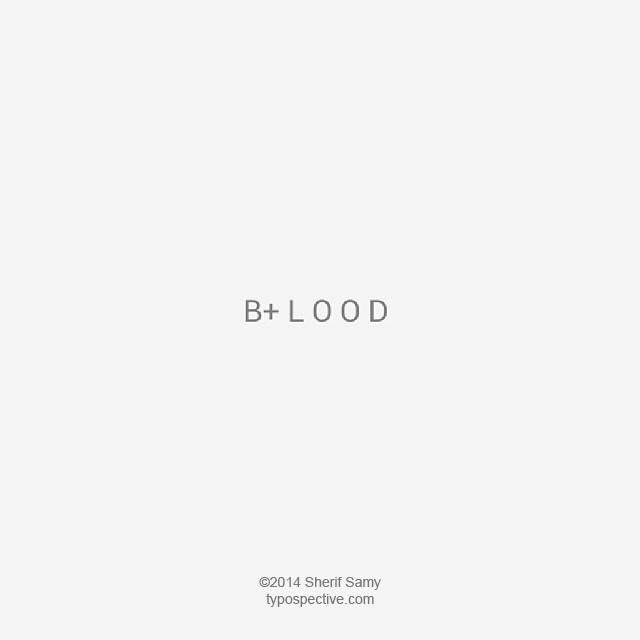 Beautiful Typographic Art showing blood