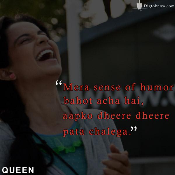 Kangana Ranaut QueenMovie Dialogues