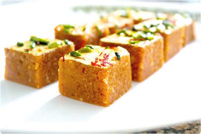 mohanthaal Gujarati sweet Item