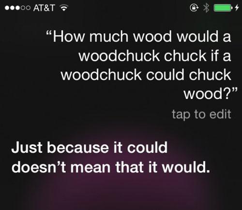 Siri answers to a tongue twister