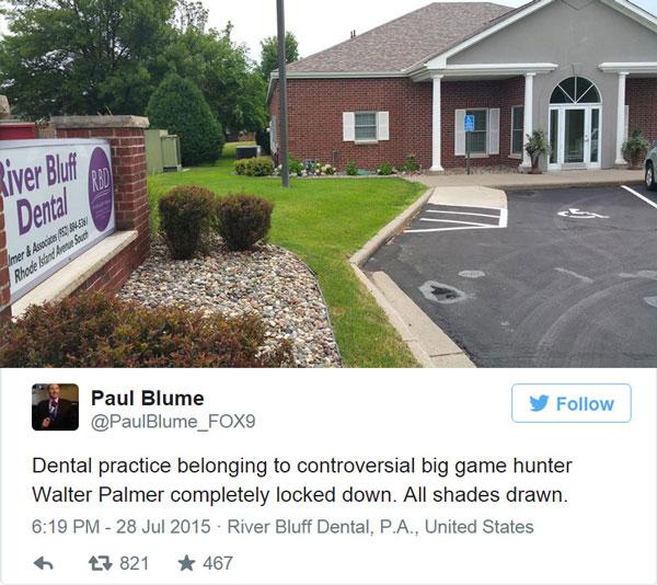 Dentist Walter Palmer clinic