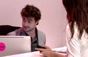 Daniel Radcliffe Turned Receptionist