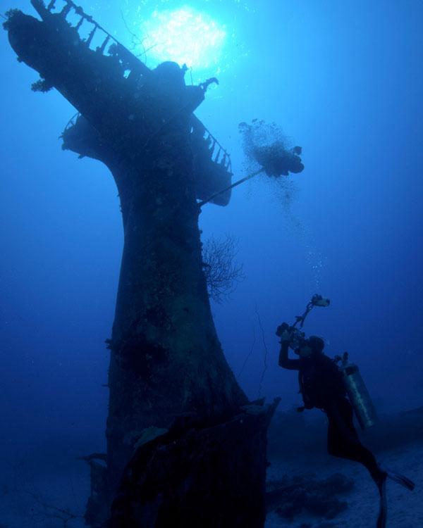 Underwater Plane Graveyard In Pacific ocean