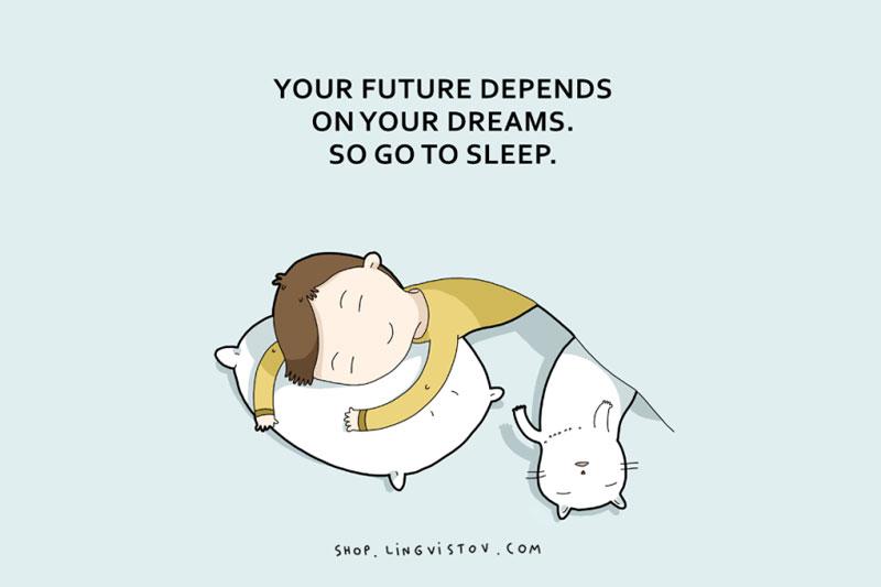 Sleepyheads slumbersome drowsy people