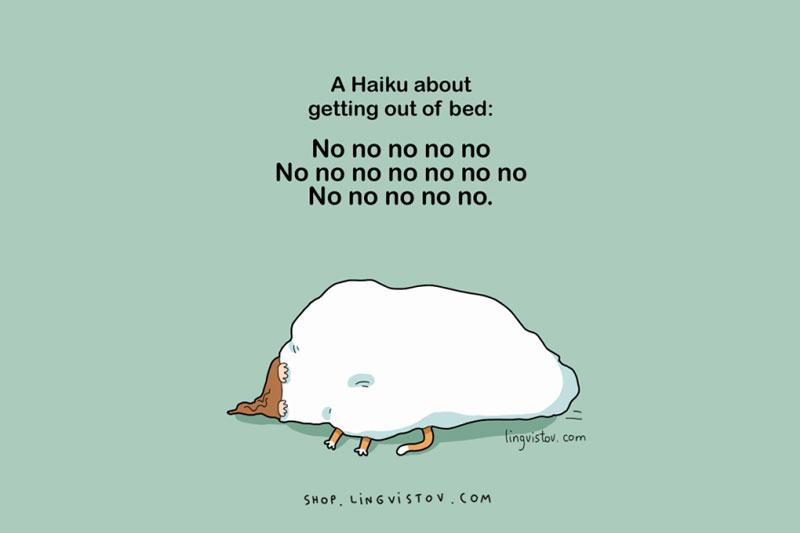 a haiku on sleepy people