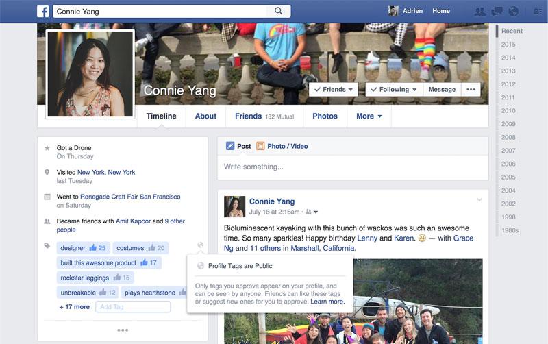 Facebook Profile Tags