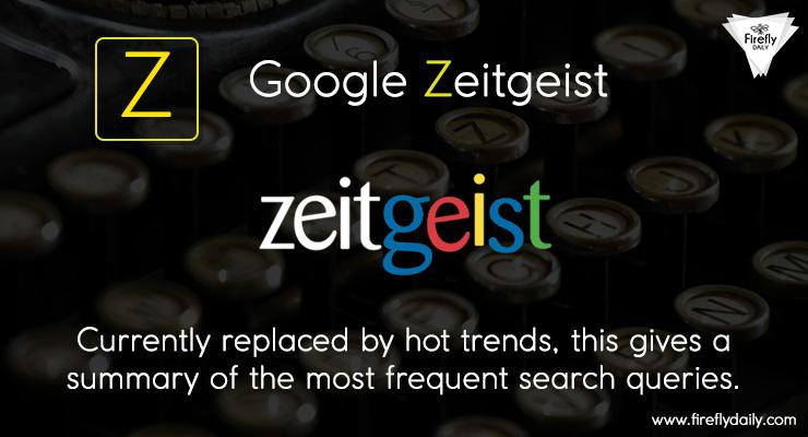 Zietgeist by google