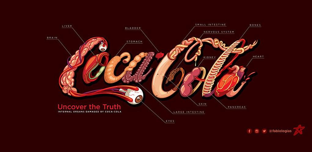 Fabio Pantoja Honest coca cola logo