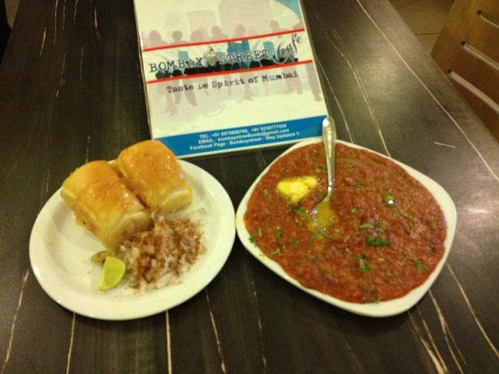 yummilicious Pav Bhaji at bombay street cafe