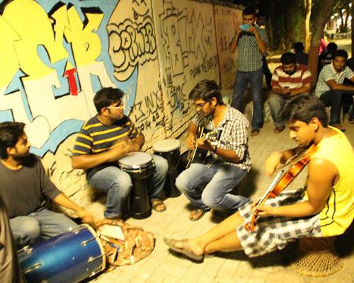 Ahmedabads Busker's Corner