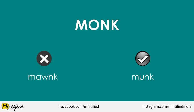Correct pronunciation of Monk