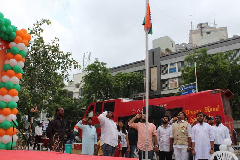 Arvind Vegda At flag Hoisting