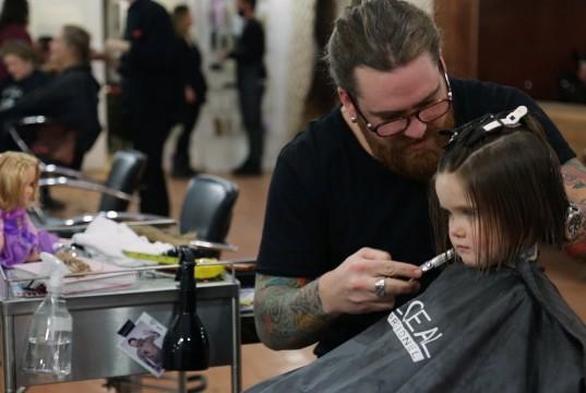 Cute Little Girl Donates Her Hair