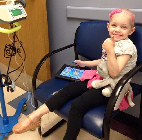 Abby suffering from Acute Lymphoblastic Leukemia