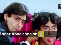 Hilarious Andaz apna apna Snapchat