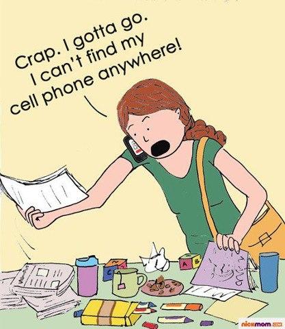 Hilarious Cartoons showing dumb woman on phone