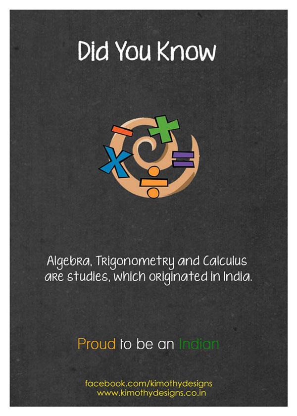 Algebra was originated in India