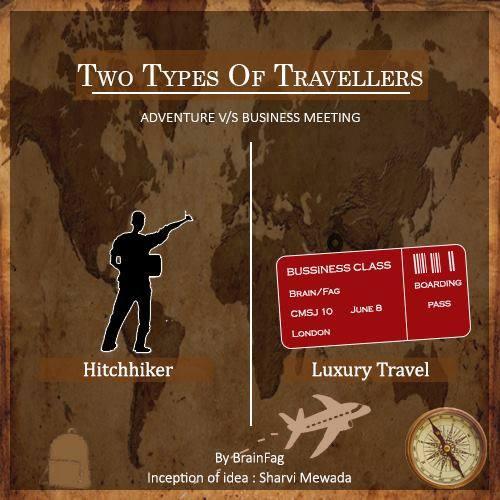 Adventure vs business meeting