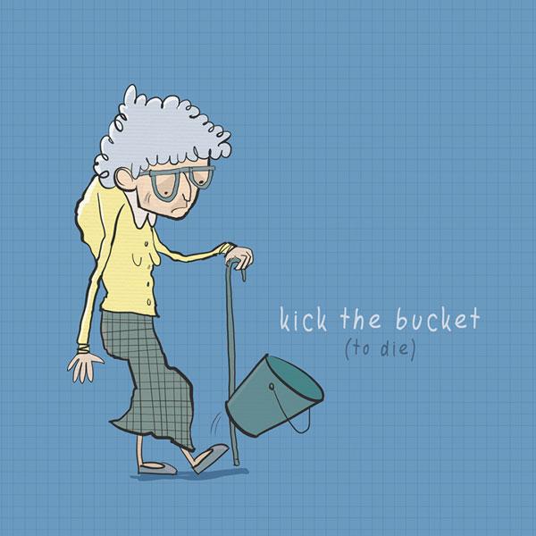 Funny English Idioms - Kick the bucket