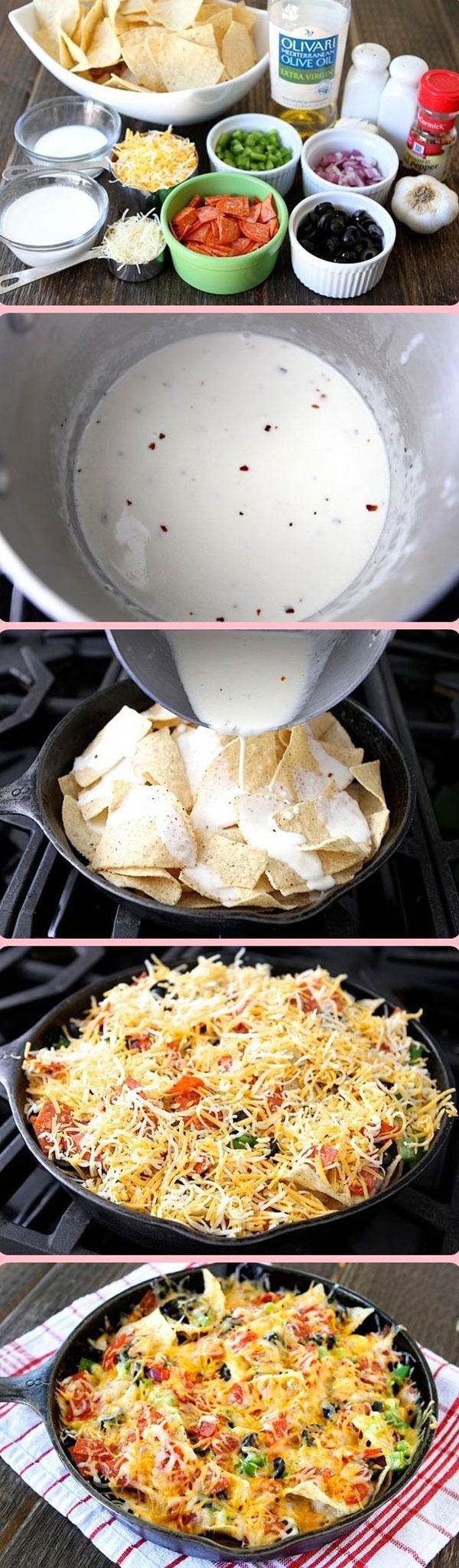 Recipe for pizza nachos