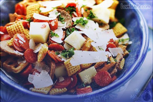 Recipe for Pizza ria Chex mix