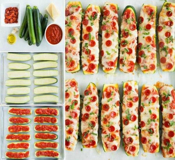 Recipe for zucchini pizza stripes