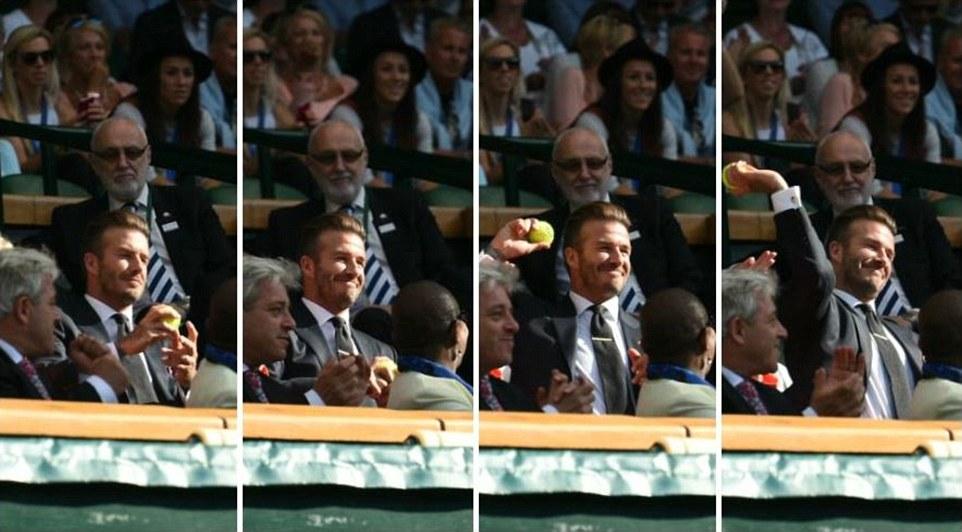 Beckham Caught A Tennis Ball During A Wimbledon Match And It Is Winning The Internet