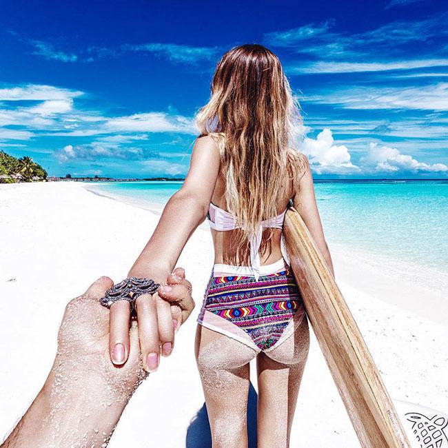 Murad osmann Natalia Maldives Beaches