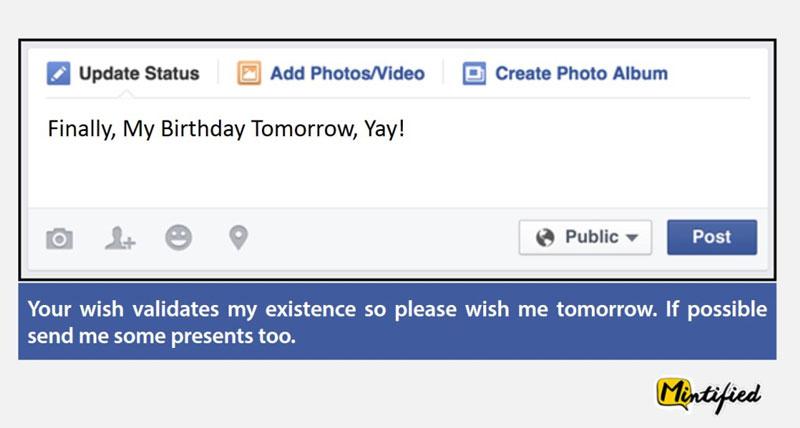 Honest and funny facebook status