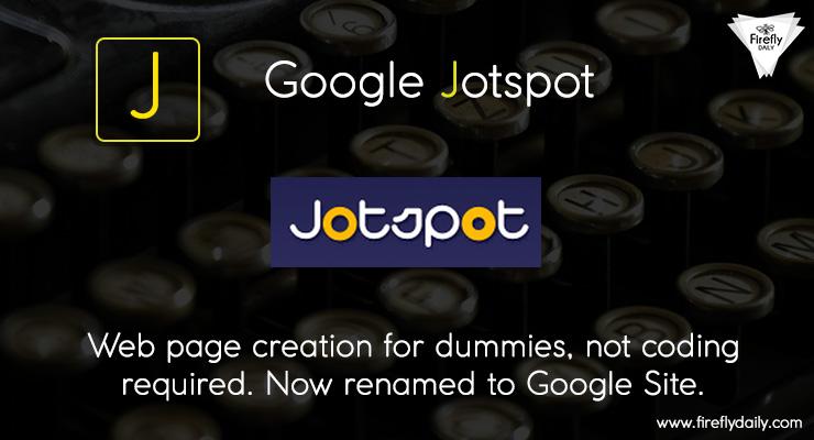 Google JotSpot