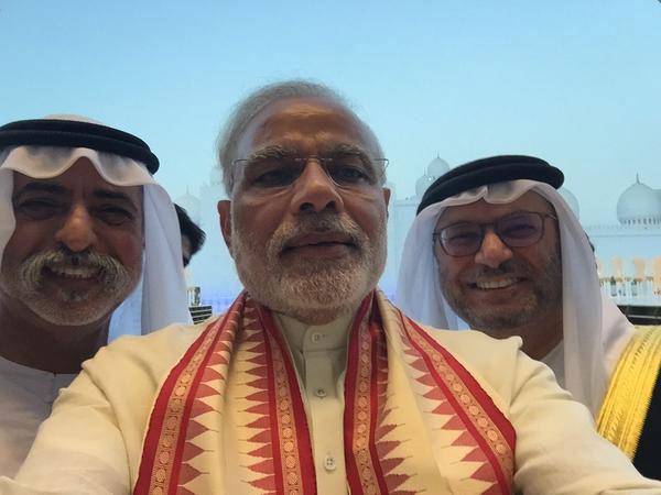 Narendra Modi selfie with Anwar Gargash