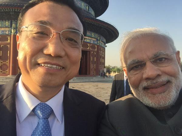 Prime Minister Modi with Li Keqiang Selfie