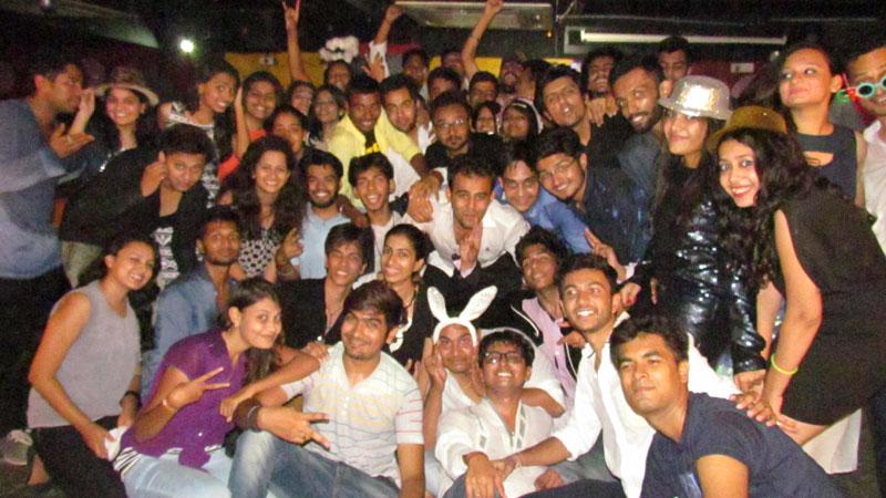 Group photo at NIEM Ahmedabad Party