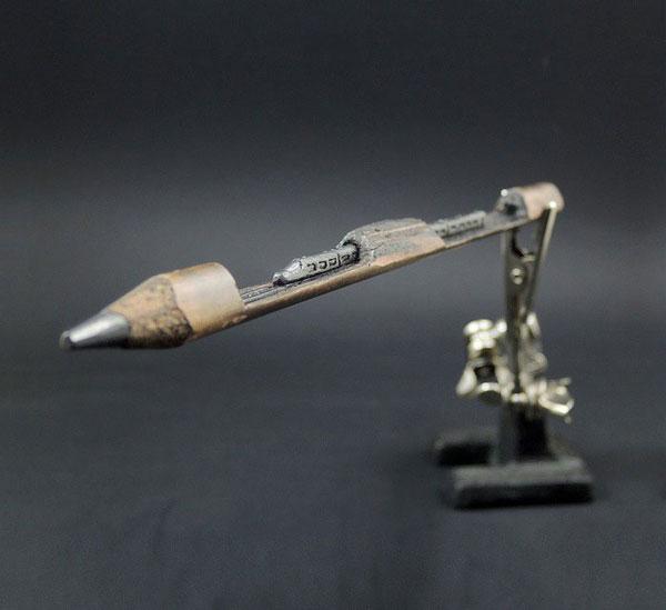 artistic pencil sculptures