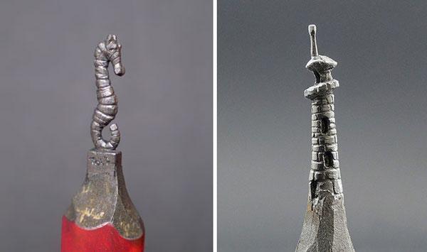 Bosnian artist Pencil sculptures