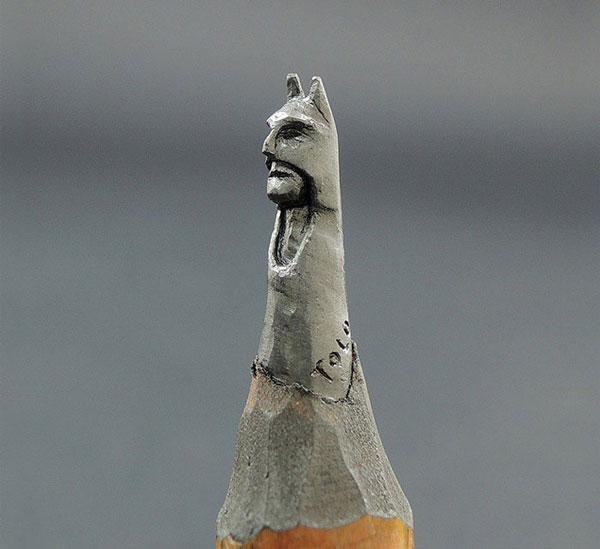 Batman on pencil tip