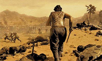 Bahubali war scene
