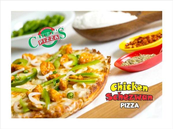 Chichen Schwezwan Pizza at chefs Pizza