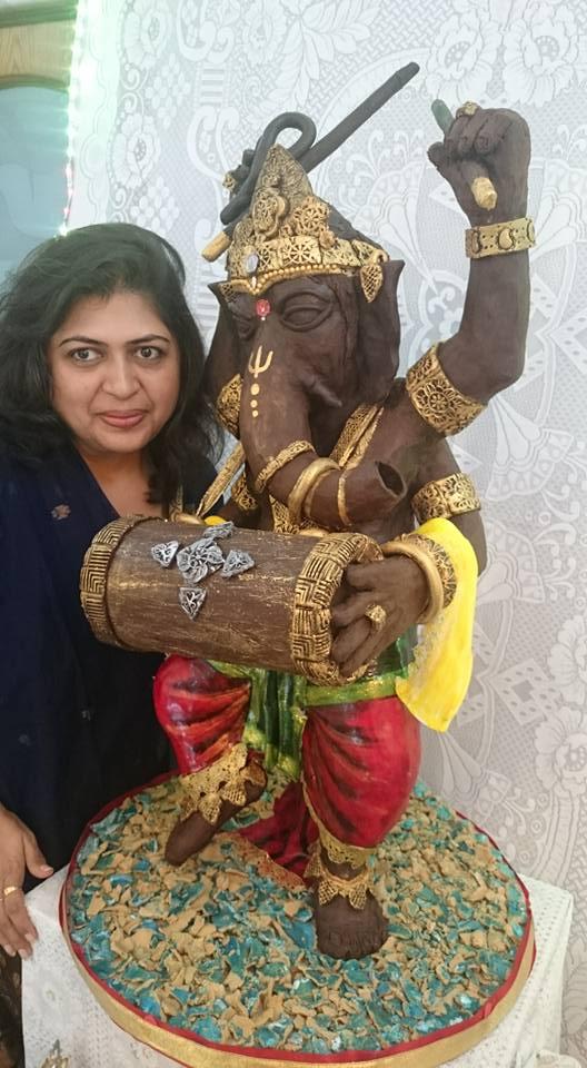 35 Kg Chocolate Ganesha Idol