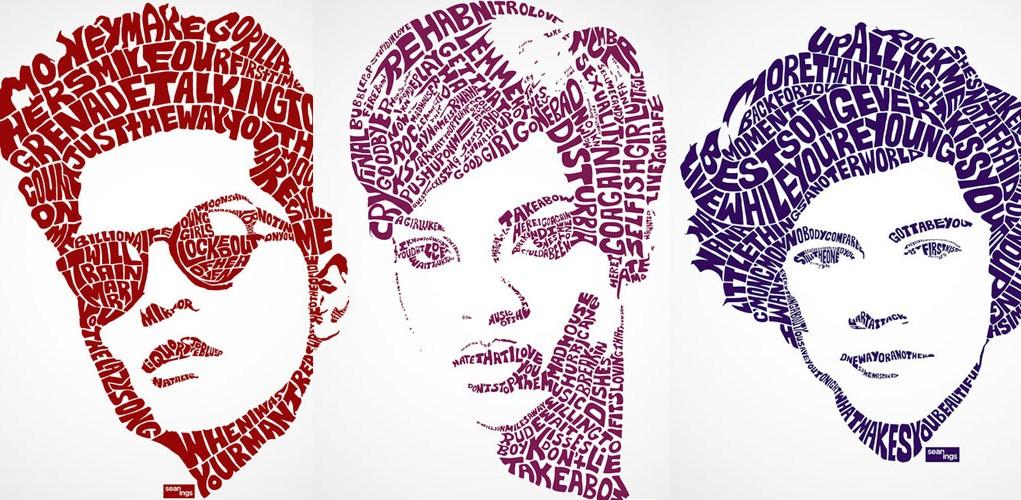 Typographic portrait Sean Williams