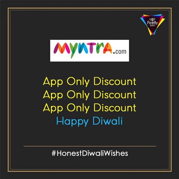 Myntra Honest Diwali Wishes By Brands