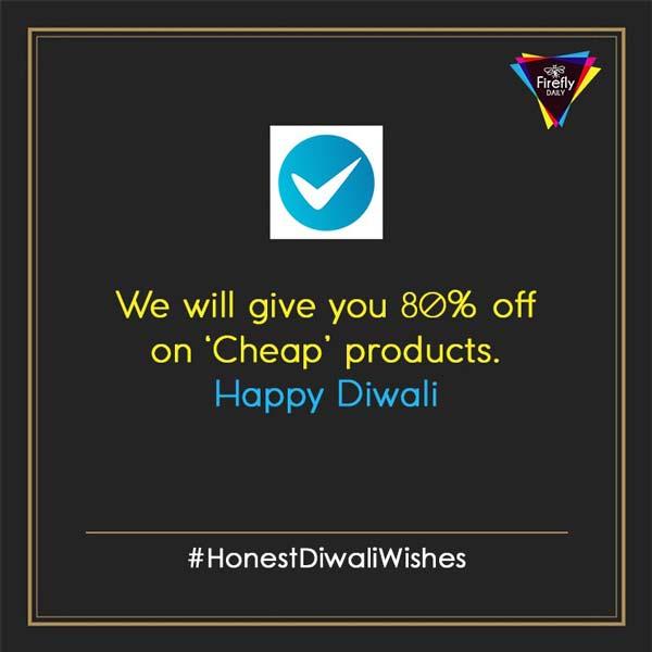 Shopclues Honest diwali wishes