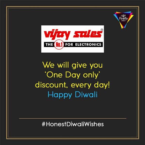 Honest Diwali Wishes By Vijay Sales