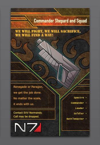 Commander Shepherd Business Card