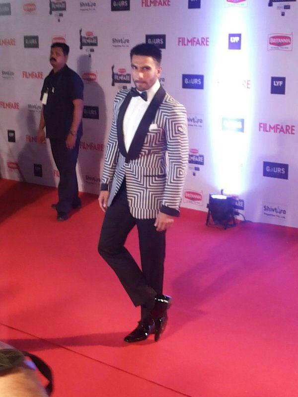 Ranveer Singh at 2016 Filmfare