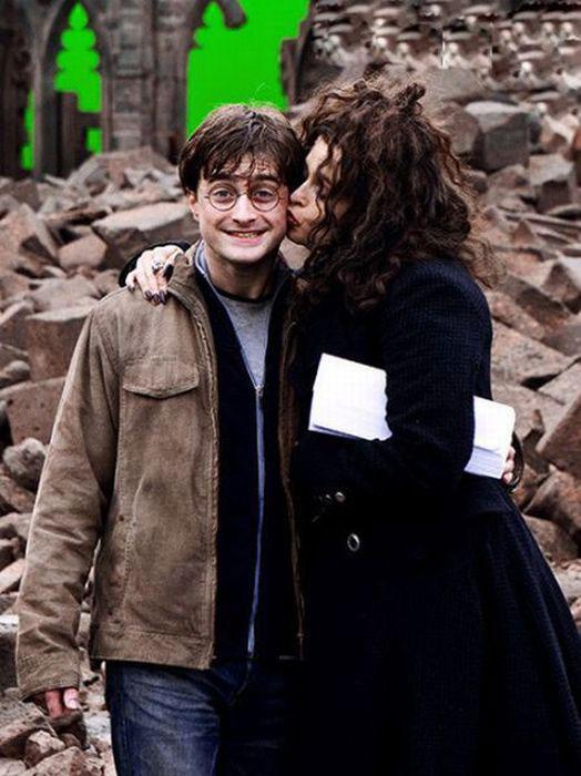 Helena Bonham Carter and Daniel Radcliffe