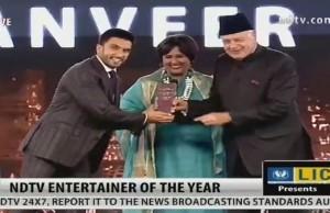Ranveer Singh wins entertainer of the year award